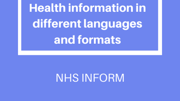 NHS INFORM Translations